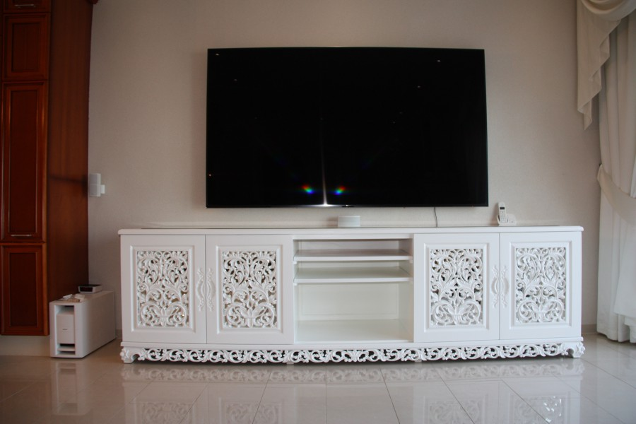 Teak Tv Kast In Wit