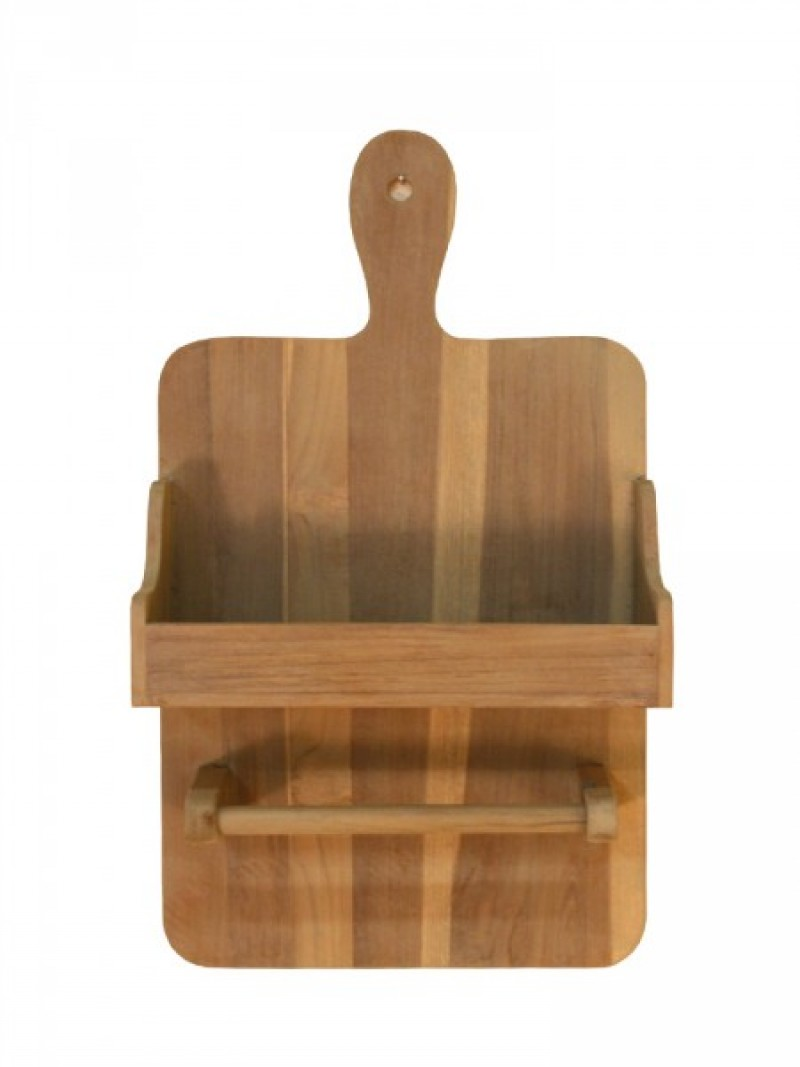 Teak kitchen organiser